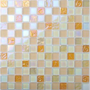 TST Crystal Frosted Glass Tiles Rose Pink Iridescent Lovely 3D Carve Flower Pattern Art Mosaics
