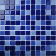 TST Crystal Glass Tiles Dark Blue Gorgeous Ocean Fashion Designed Mosaic  Tile Bathroom Decor