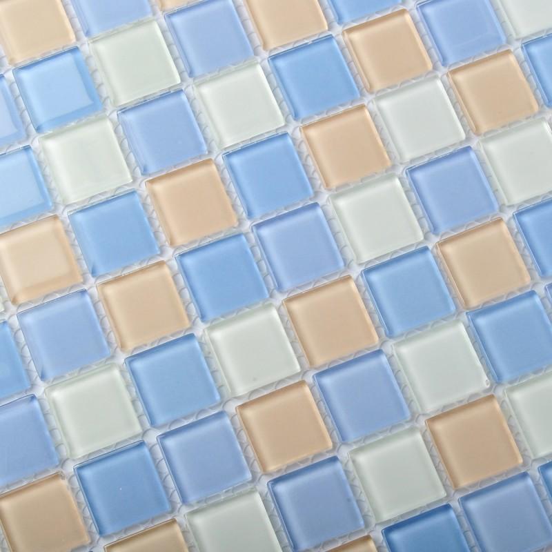 Crystal Glass Tiles Unique Mosaic Glass Tile Kitchen Bath Shower ...