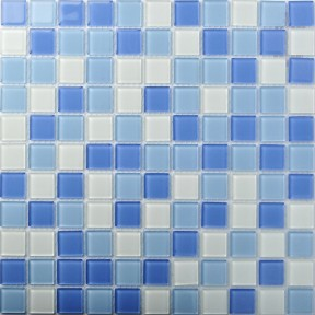 TST Crystal Glass Tiles Blue Glass Mosaic Tile Sea Glass Backsplash Bathroom Wall Art
