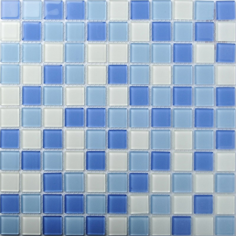 Crystal Glass Tiles Blue Glass Mosaic Tile Sea Glass Backsplash ...