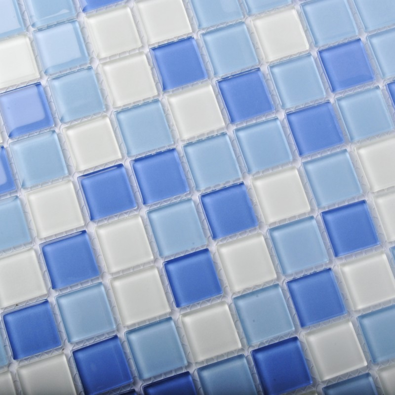 glass tiles blue glass mosaic tile sea glass backsplash bathroom wall