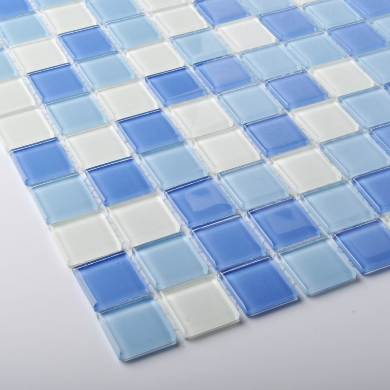 Crystal Glass Tiles Blue Mosaic Tile Sea Backsplash