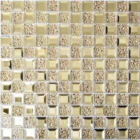TST Crystal Glass Tiles Golden Twinkle Diamond and Notch Interior Bathroom Modern Design