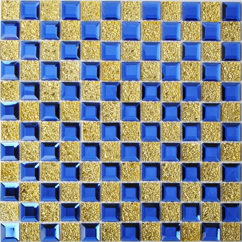 tst crystal glass tiles blue golden glass mosaic tile tile with interior water wave for bathroom kitchen backsplash tiles
