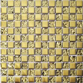 TST Crystal Glass Tiles Golden Mosaic Water Wave Design Shinning Bathroom Kitchen Backsplash Tiles
