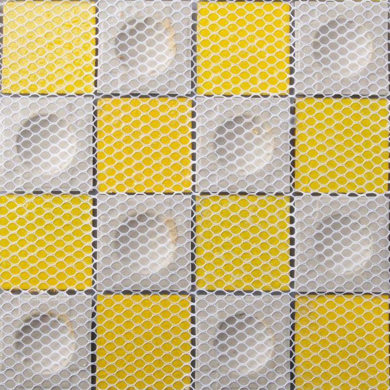 Crystal Glass Tile Inner Gold Foil Hemisphere Surface Mosaic Bathtub ...