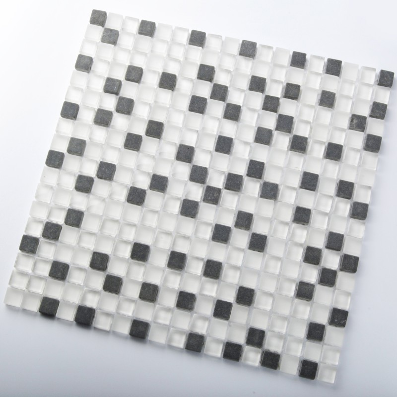 21 Best Images About Frosted Glass Tile Kitchen On: TST Crystal Glass Tiles White And Black Frosted Glossy