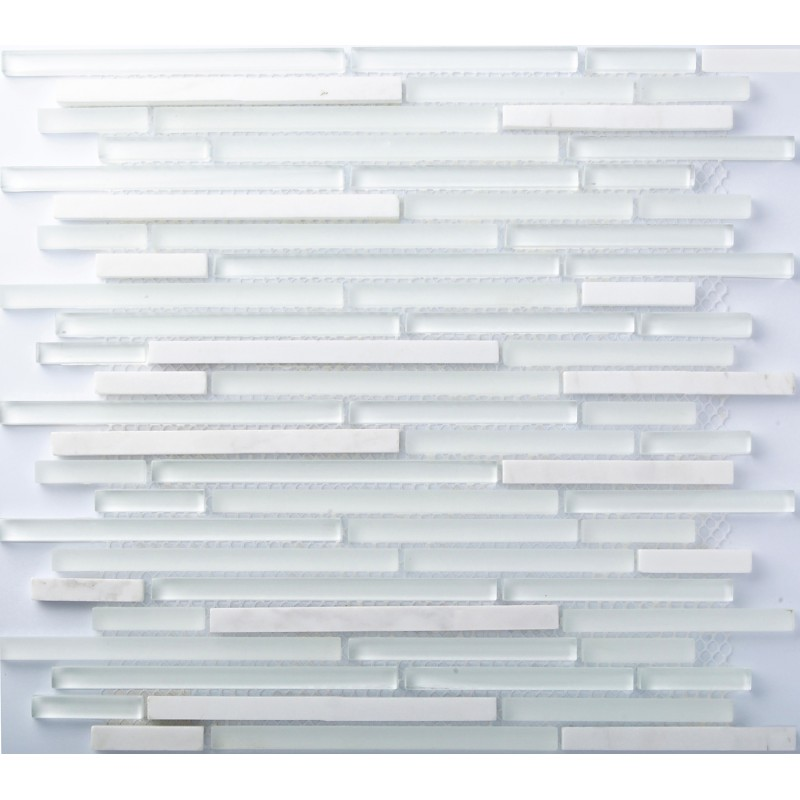 Tst Stone Glass Tiles White And Blue Mosaic Glass Tile