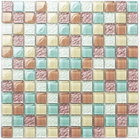 TST Crystal Glass Tiles Multi-Color Chips Kitchen Mosaic Art Wall Floor Decor Candy Color