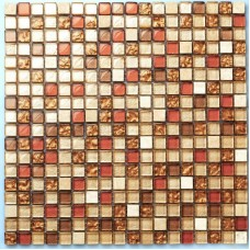 TST Crystal Glass Tiles TSTGT043 Red Orange Malaysia Style Squared Backsplash Fireplace Decor Art