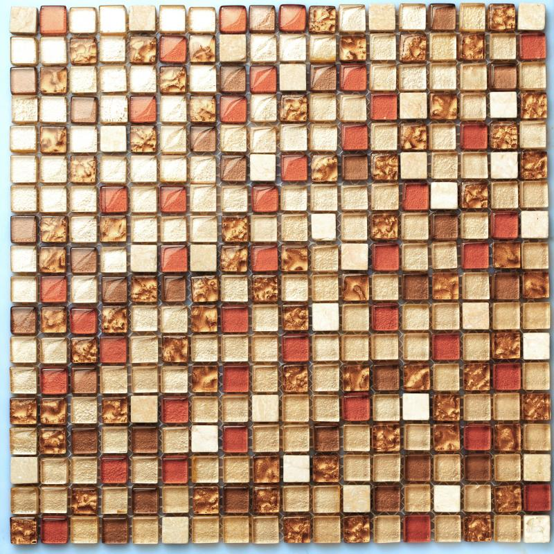 Tst Crystal Gl Tiles Tstgt043 Red Orange Malaysia Style Squared Backsplash Fireplace Decor Art