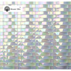 TST Glass Bridge Tile Aqua Iridescent Arch Glass Backsplash Kitchen Bathroom Wall Tile