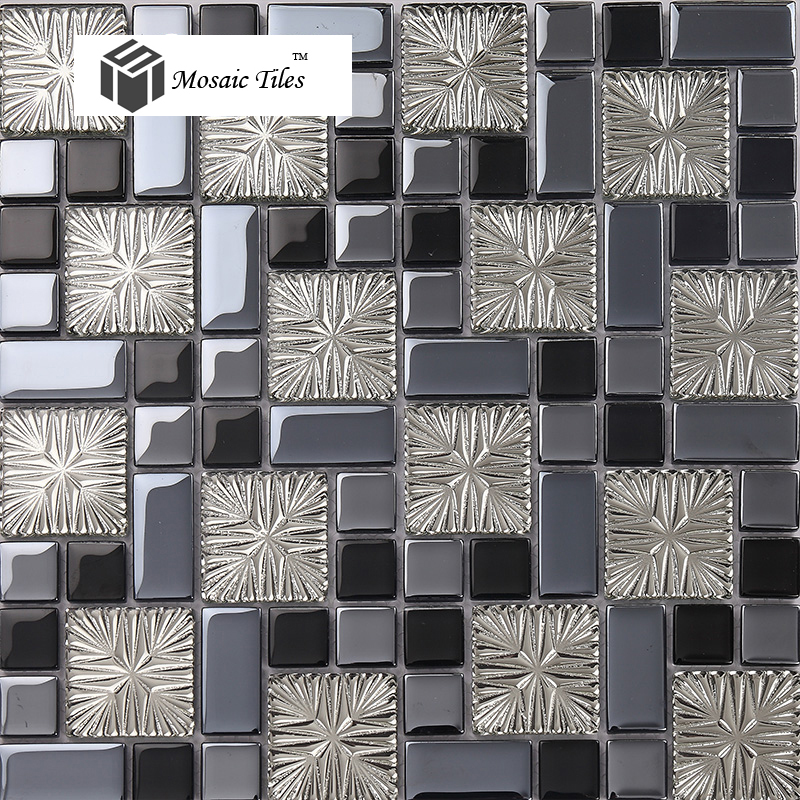 Tst Crystal Glass Tiles Gray Silver Black With Special