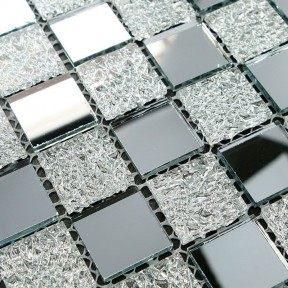 TST Crystal Glass Tiles Glass Mosaic Tile Sheets Inner Twinkling Kitchen Backsplash Home and Hotel Decor