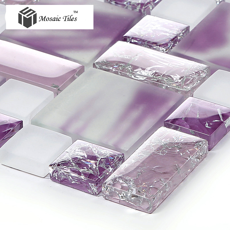 Tst Crystal Glass Tiles Glass Purple Glass Mosaic Tile Ice