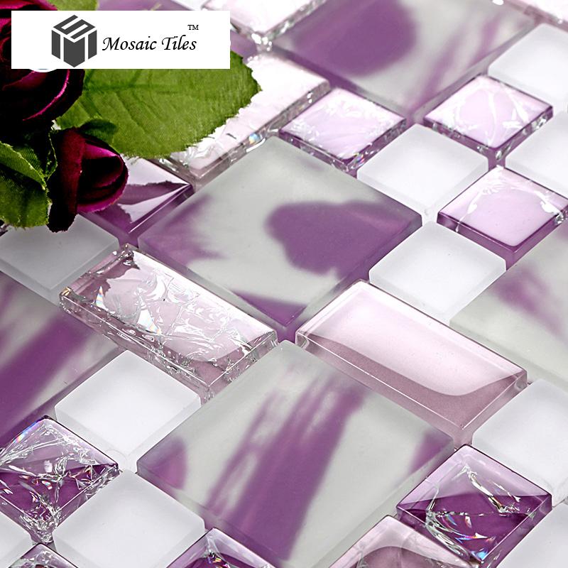 Tst Crystal Gl Tiles Purple Mosaic Tile Ice Break Design Home Deco Art