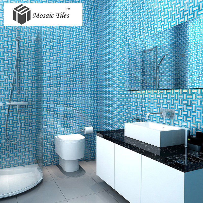 blue bathroom tiles image tst glass tiles glass blue glass tile bathroom 17455