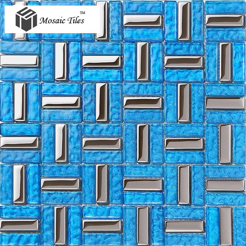 TST Crystal Glass Tiles Glass Blue Glass Tile Bathroom Home Deco Art