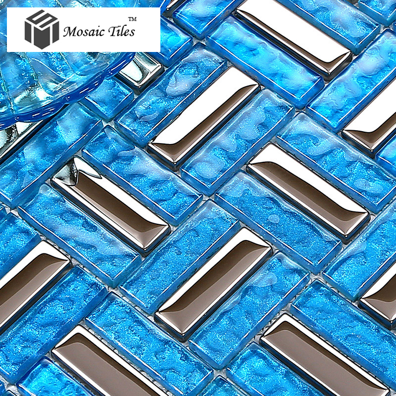 Tst Crystal Glass Tiles Glass Blue Glass Tile Bathroom