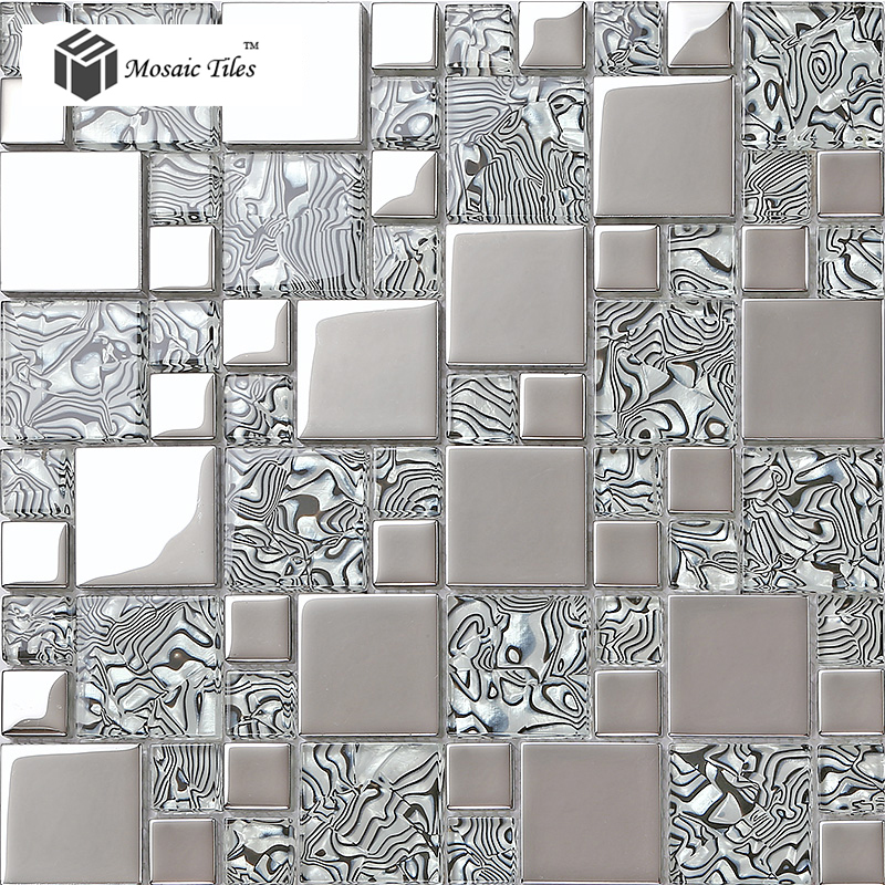 Tst Crystal Gl Tile Zebra Design Innovation Bathroom Wall Fireplace Backsplash Art