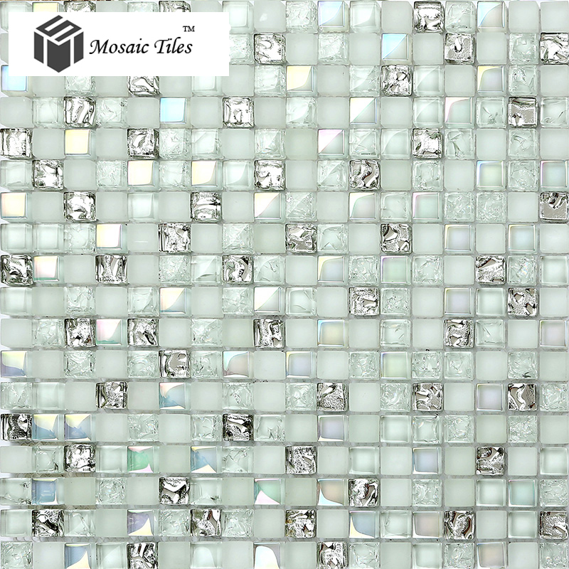 iridescent bathroom tiles tst glass mosaic tile aqua iridescent silver 13276