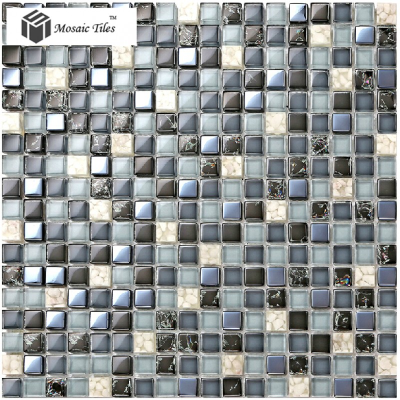 Tst Glass Conch Tiles Dark Blue Glass Tile Bathroom Squared Kitchen Tile Backsplash Ideas Tstgt240
