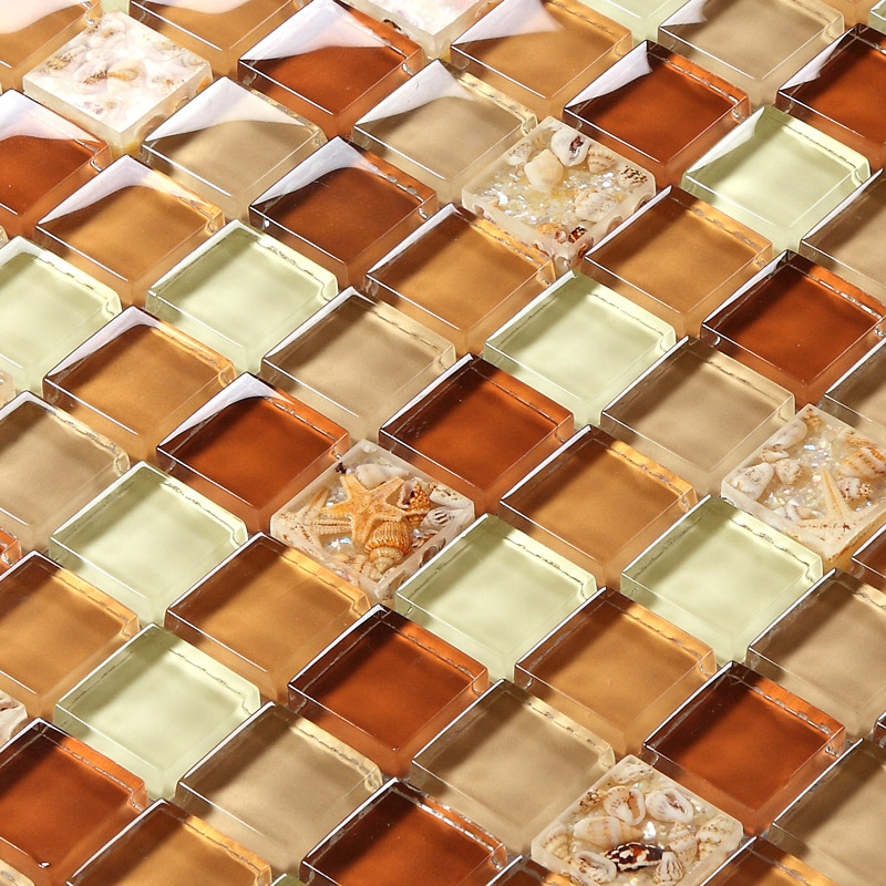 tst glass conch tiles crystal glass mosaic shell inside
