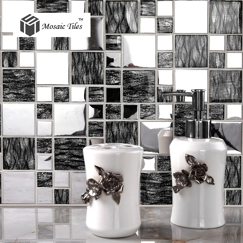 Tst Glass Metal Tile Black Amp Silver Laminated Glass