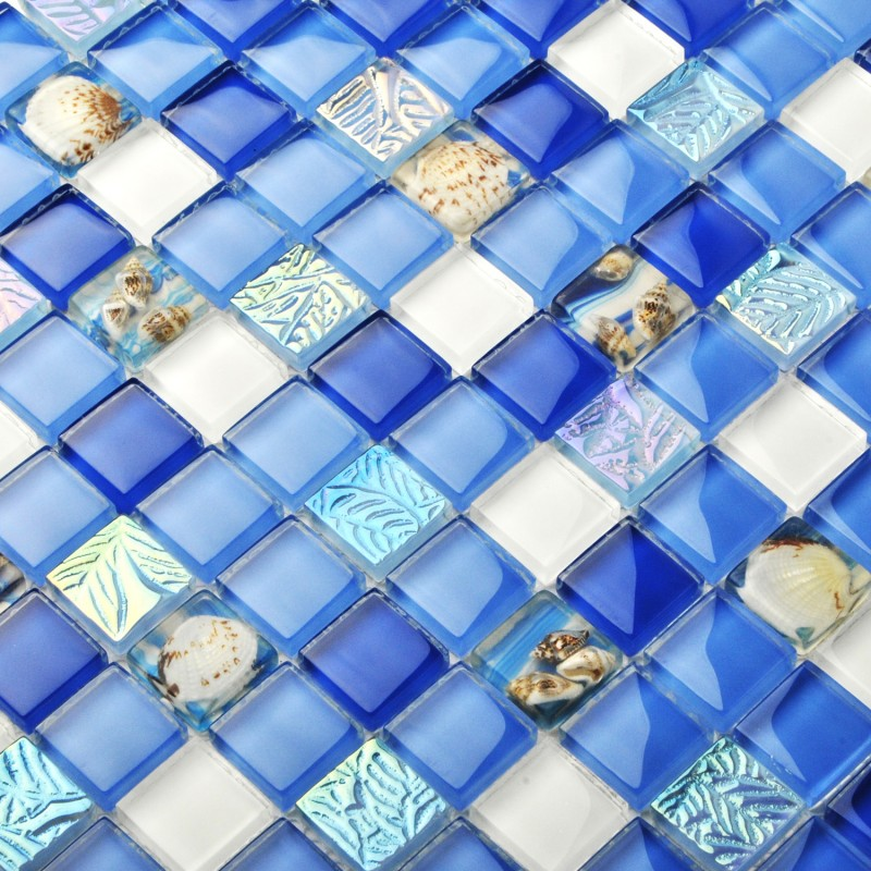 sea glass tile bathroom tst glass conch tiles tst sea blue glass wall tile 20315