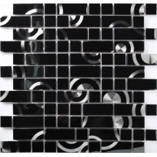 TST Stainless Steel Tiles Black Metal Interlocking Mosaic Tile Backsplash Interior Design