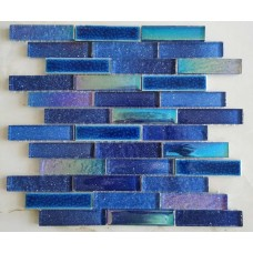 TST Blue Starry Sky Tile Glass Interlocking Brick Ceramic Ice Crack Art Mosaic Tiles Backsplash Wall Pool Decor TSTNB18