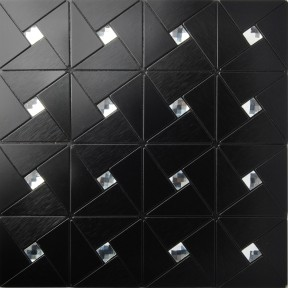 TST Aluminum Sticker Mosaic Tiles Black Adhesive Sticker Background Remodeling