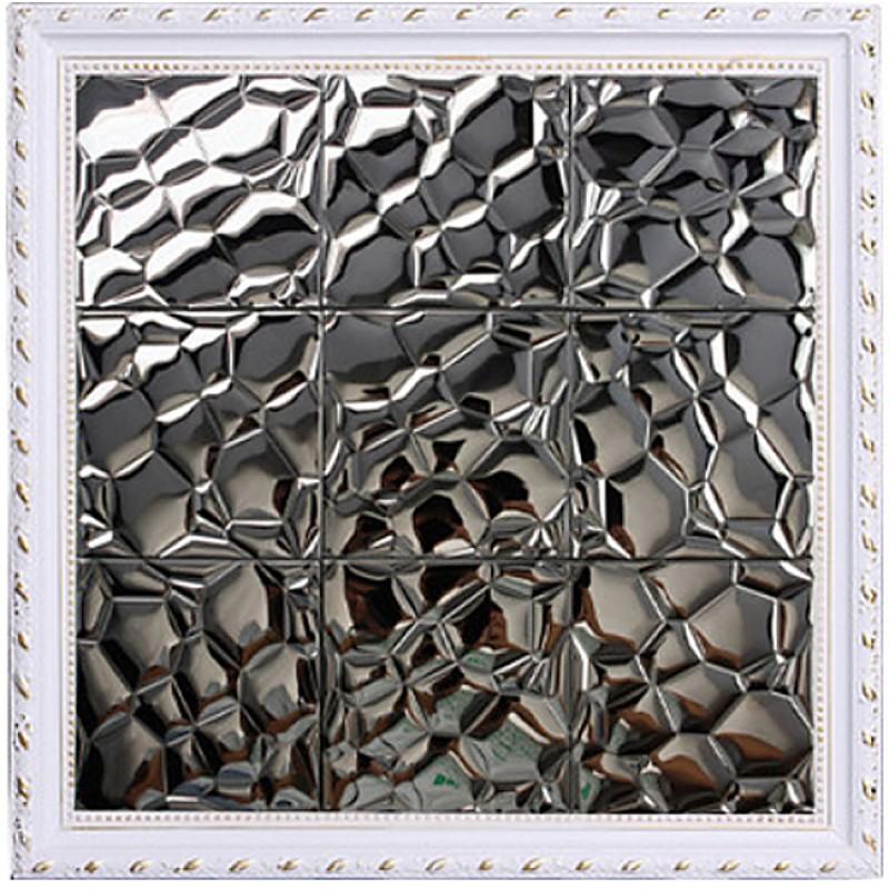 Tst Stainless Steel Mosaic Tile Black Unique Reflect Light Surface Backsplash Decorative Metal Tiles Art