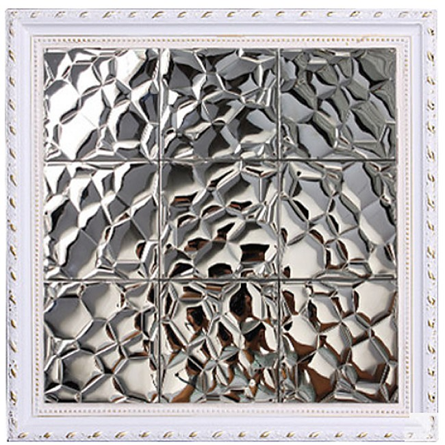 TST Stainless Steel Mosaic Tile Silver Uneven Surface Kitchen Background Remodeling Art