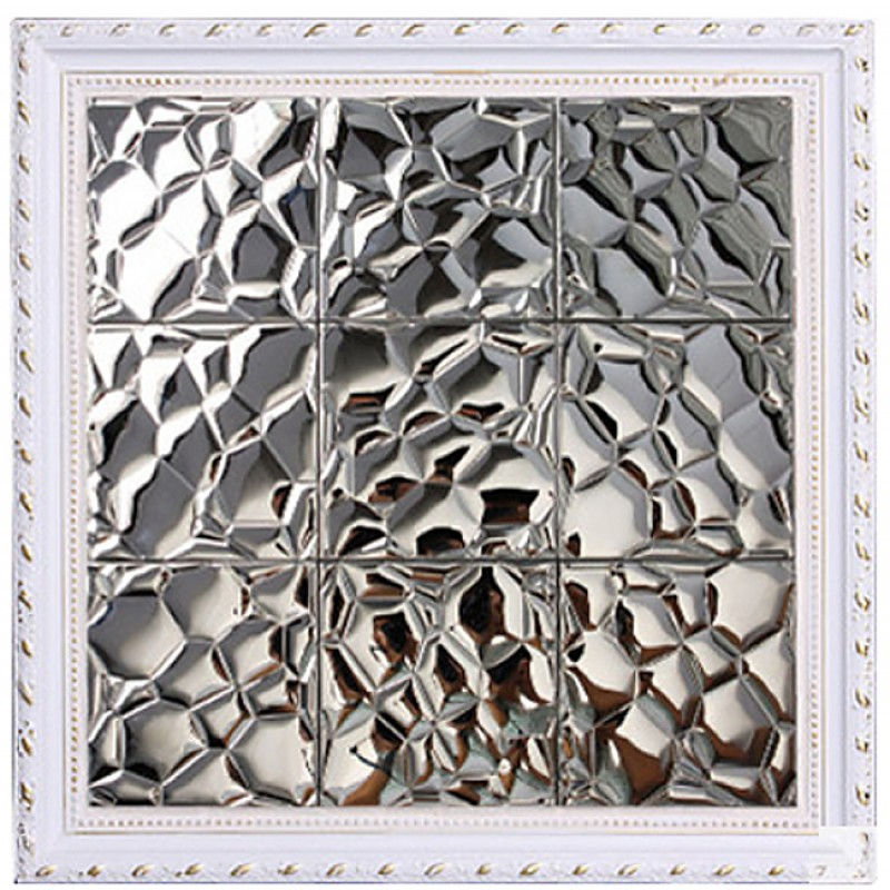 Kitchen Wall Accessories Stainless Steel: TST Stainless Steel Mosaic Tile Silver Uneven Surface
