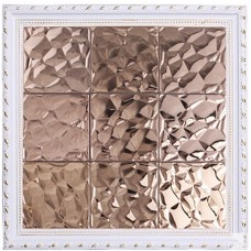 TST Stainless Steel Mosaic Tile Pink Raised Surface Bar Counter Background Interior Decor