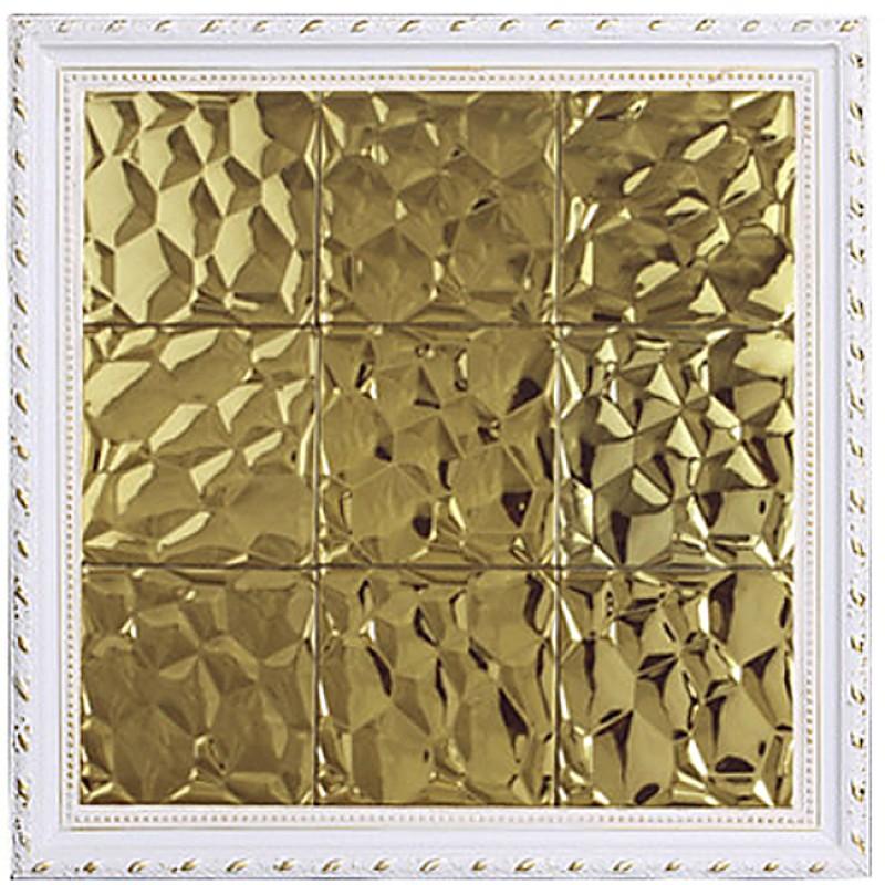 Tst Stainless Steel Mosaic Tile Golden Raised Surface Metal Backsplash Decorative Wall Tiles Idea