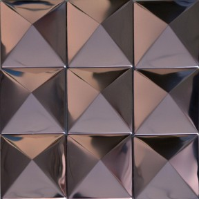 TST Pyramid Metal Tiles Silver Glossy Mosaic Background Decor Art