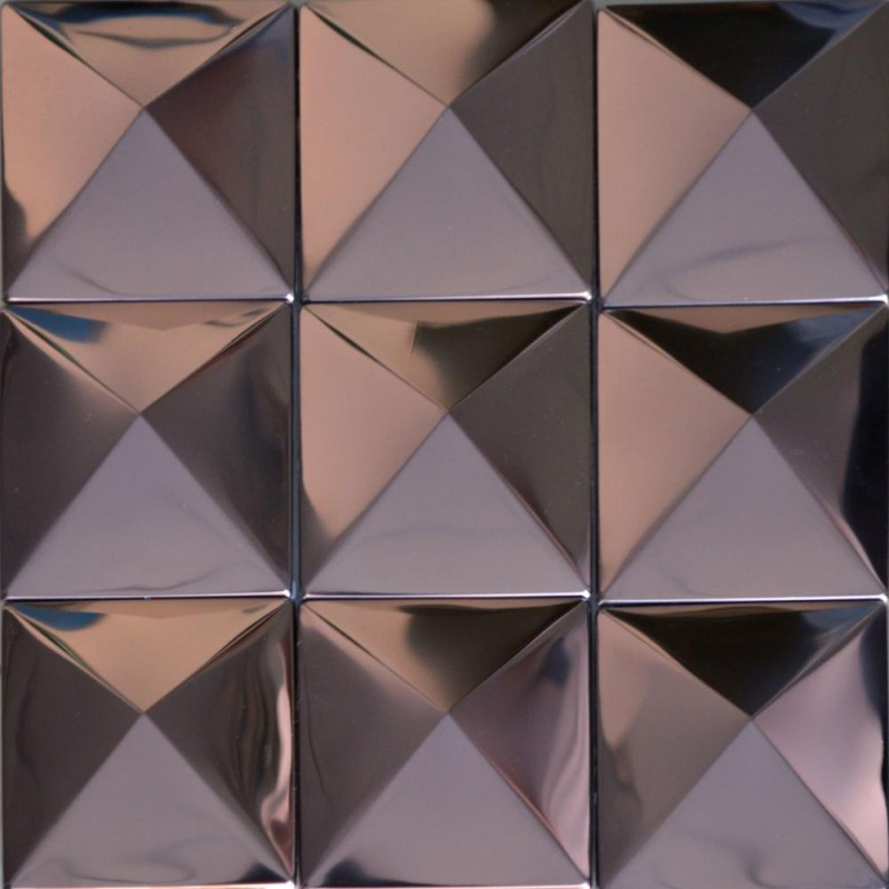 Tst Pyramid Metal Tiles Silver Glossy