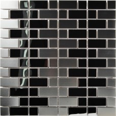 TST Stainless Steel Mosaic Tile Silver Mirrored Tiles Stainless Steel Backsplash Decorative Wall Tiles Art