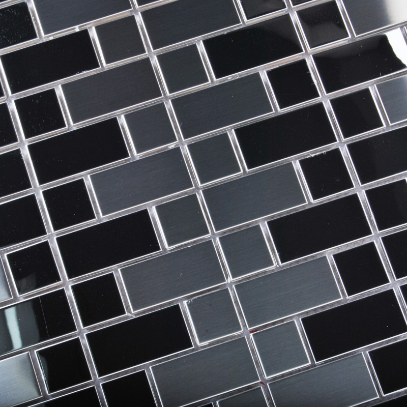 TST Stainless Steel Mosaic Tile Silver Mirror Glass Tiles Stainless ...