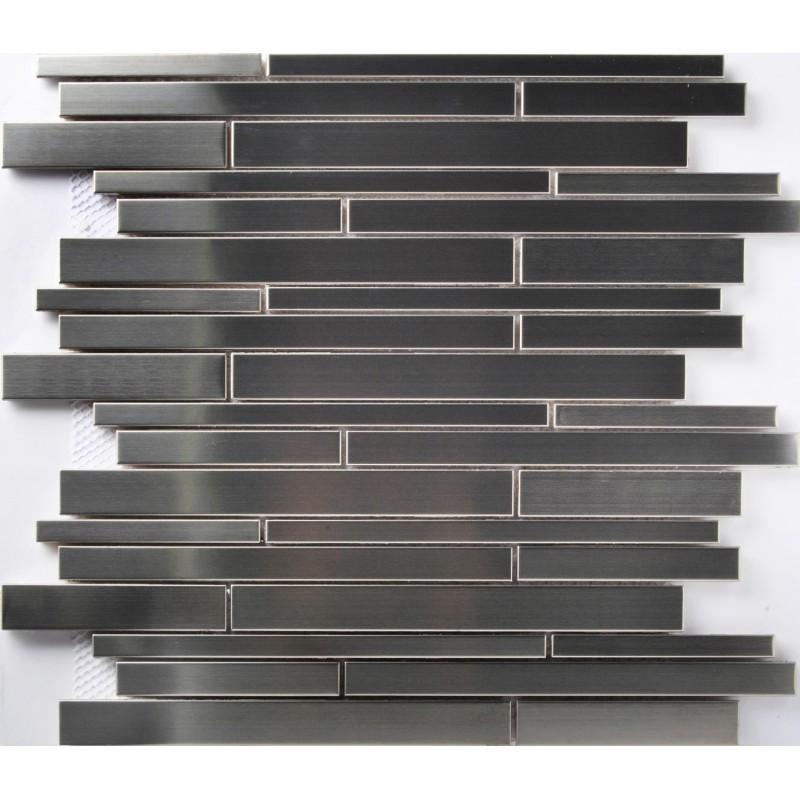 Steel Backsplash Tiles: TST Stainless Steel Mosaic Tile Silver Mirror Glass Tiles