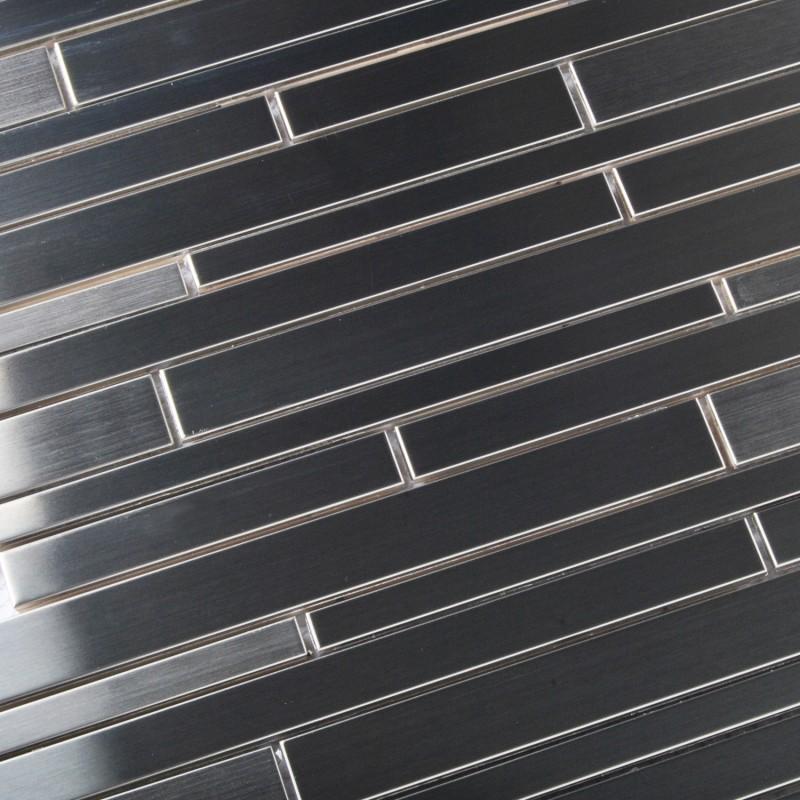 Tst stainless steel mosaic tile silver mirror glass tiles for Stainless steel tile backsplash reviews
