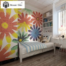 TST Mosaic Collages Candy Color Flowers Patterns Art Mosaic Tiles Colorful Childhood