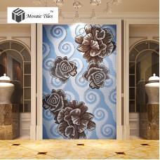 TST Mosaic Collages Flowers Patterns Home Hotel Background Wall Deco Glass Tiles