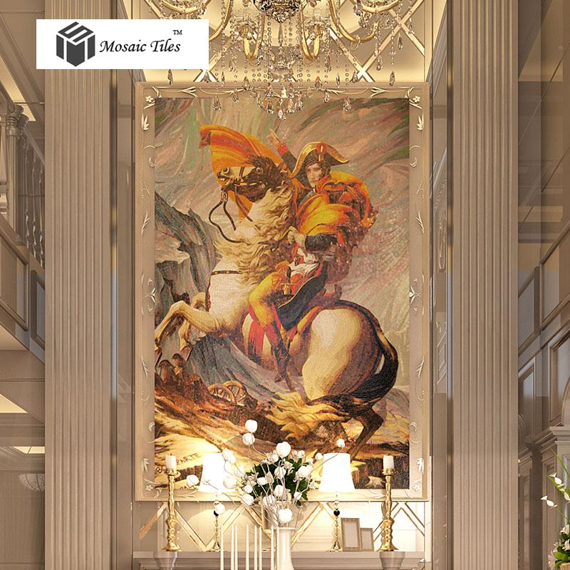 Tst mosaic murals famous picture napoleon bonaparte for Art deco tile mural