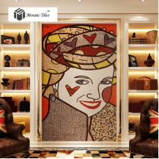 TST Mosaic Murals Famous Picture The Queen's Portrait Abstract Cartoon Figure Art Wall Design