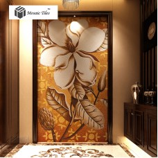 TST Mosaic Mural Big Flower Crystal Glass Hand Made Art Mosaics