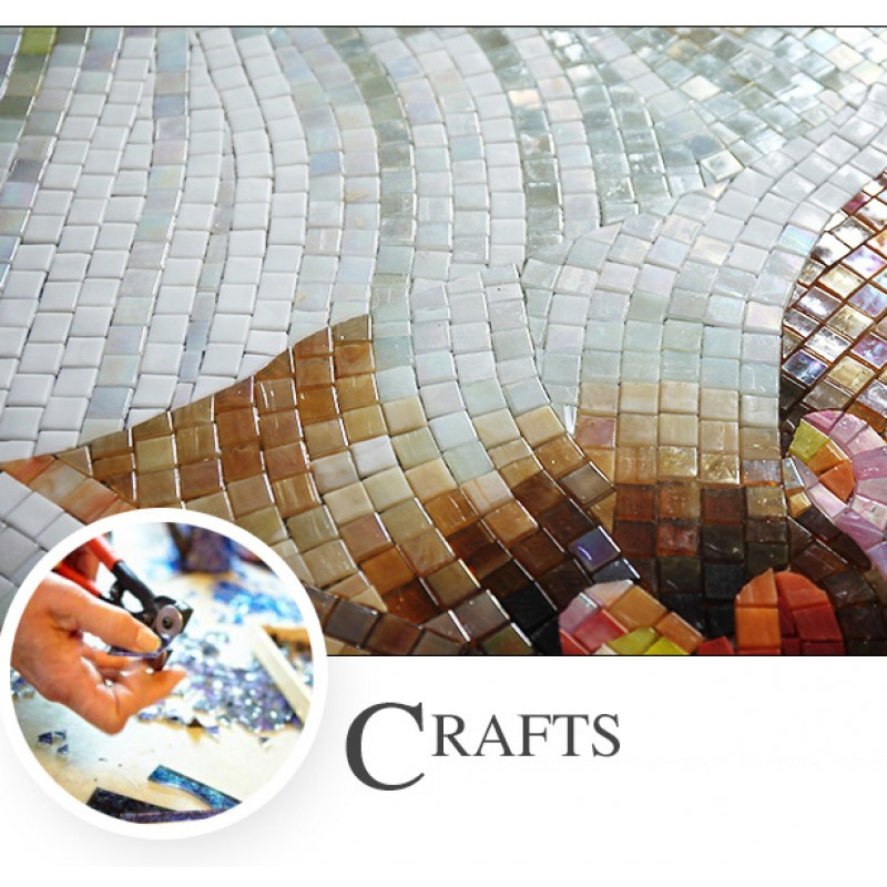Tst Mosaic Murals Beautiful Big White Flower Art Home